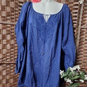 Lane Bryant blouse Navy color very nice